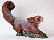 Squirrel Figurine Author's Sculpture Collectible Figure Artificial Marble