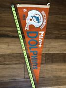 Vintage / Nfl  1972 Miami Dolphins Penant World Champions  Full Size Penant