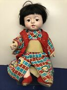 16andrdquo Vintage 1940andrsquos-1950andrsquos Adorable Japanese Plaster Baby Doll Kimono O8