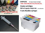 Empty Cartridges 500 Ml Ink For Epson 200 302 288 812 212 202 702 802 No Chip