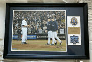 Mariano Rivera Derek Jeter And Andy Pettitte Yankees Autographed Framed Photo
