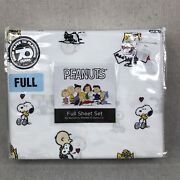 Brand New Peanuts Snoopy Love My Friends Full Size Sheet Set Polyester Berkshire