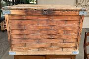1930's Woven Wood Industrial Shipping Crate Box