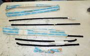 7 Nos 1965-1969 Corvair Door And Rear Window Belt Strip Seal Sport Coupe Fuzzies