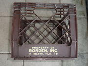 Vintage Collectible Borden Plastic Milk Crate 78 Miami Florida