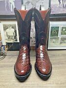 Lucchese Exotic 11d Exotic Bias Cut American Alligator Belly Mens Cowboy Boots