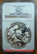 1992 1oz Ngc Ms69 Large Date Silver Panda Coin
