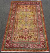 Rare Antique Caucasian Yellow Ground Perepedil Rug. Circa 1900 Period