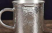 Silver Hammered Cup - 999 Silver Handmade Kitchenware Cup Perfect Wedding Gifts