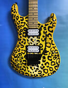 Kramer Pacer Satchel Signature Model Signed By Steel Panther | Yellow Leopard Pr