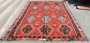 Antique Turkish Rug 93and039and039x144and039and039 Hand Woven Sivas Sarkısla Kilim 238x368cm Rare