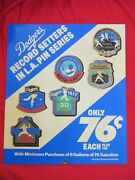 La Dodgers Unocal 76 Record Series Pins Poster Advertising World Series Gas Card