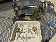 Singer Sewing Machine Parts Only 1906 H189274 Model 27 Many Extra Accessories