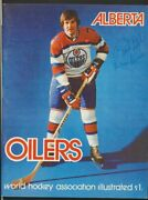 1st Ever Oilers Home Game Program Vol 1 1 Alberta Wha Oct 3 1972 Extremely Rare