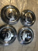 """Chevrolet Hubcaps 1965-1966 Hp, Police Car, Taxis. Full Size Cars. 10-3/16"""" Id."""