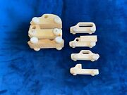 Wooden Toy Cars Trucks Vehicles With Parts To Make More