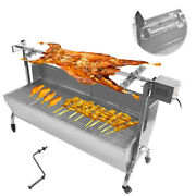 110v 46 Large Barbecue Grill Stainless Steel Outdoor Bbq Machine Beef Stick New