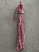 18.9m X 12mm Silver / Red Dyneema Double Braid Yacht Sheet Marine Spectra Rope