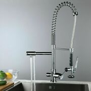 Commercial Pull Down Kitchen Faucet With Water Filter And Pot Filler 3 In 1 Chrome