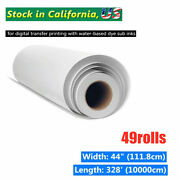 49roll/lot 100gsm 44inandtimes328ft High Tacky / Sticky Sublimation Heat Transfer Paper