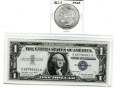 1882-s 1 Morgan Silver Dollar And 1957a 1 Silver Certificate Note Lot1 Ea