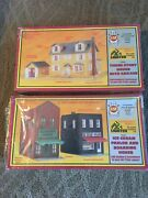 2 Vintage 1980s Ahm Building Kits 3 Story House Ice Cream Parlor Boarding House