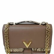 Louis Vuitton Very Chain Leather Shoulder Bag Taupe