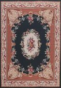 Victorian Style Needlepoint Chinese Area Rug Hand-woven Living Room 8x10 Carpet