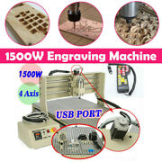 4axis Cnc6090 1.5kw Usb Port Router Milling Engraving Cnc Cutting Machine +rc