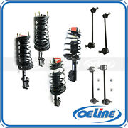 4x Shock Absorber Strut Coil Spring For 97-01 Toyota Camry W/ Sway Bar End Links