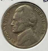 1954-d/d Jefferson Nickel Repunched D