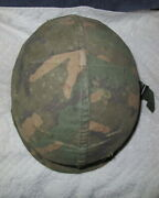Ww2 Us Army M1 Helmet Liner And Camouflage Cover Vietnam