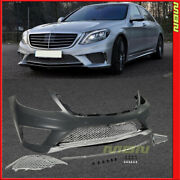 S63 Style Front Bumper For Mercedes Benz S-class S550 S600 S550e W222 2014-2017