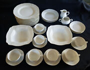 Rosenthal Classic Sanssouci Ivory Gold China Service Plates Cups Vegetable Bowls
