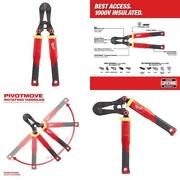 18 In. Fiberglass Handle With Pivotmove Rotating Handles Bolt Cutter And 3/8 In.
