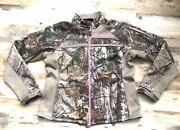 Womens Real Tree Camo Pink Hunting Scent Pocket Mid Weight Jacket Large