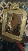 And Co Bronze Asian Double Dragons Large Vanity Mirror C1920 Picture Frame