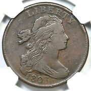 1803 S-259 R-4 Ngc Vf 25 Draped Bust Large Cent Coin 1c