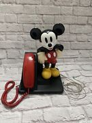 Disney Vintage Classic Mickey Mouse Telephone Touch Tone Atandt Land Line Works