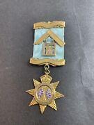 9ct Solid Gold Star Medal Royal Empire Lodge Masons Angus And Coote 20 Grams 60and039s