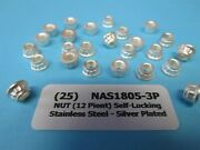 Silver Plated 12 Point 10-32 Self-locking Stainless Aircraft Nut Nas1805-3p 25