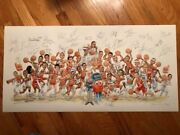Syracuse Basketball Legends Hand Signed Print 30 Signatures Melo Pearl Boeheim