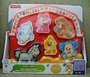 Fisher-price Laugh And Learn Farm Animal Puzzle Songs Sounds And Phases New