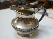 Vintage National Silver On Copper 2002 Cream Pitcher Needs Polishing Good Cond.