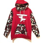 Faze Clan Red And Camo Camouflage Hoodie Htf Hard To Find Size Small
