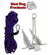 Purple Anchor Line And Anchor Pack - 100and039 X 3/8 Anchor Line And 5lb Steel Anchor