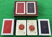 Sealed Twin Pack Vintage Pucky Patience No.30 Luxe Superfines Playing Cards