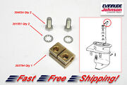 New Johnson Evinrude Shift Rod Connector With Screws Kit 303794 304024 301551