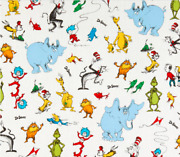 New 100 Cotton - 1/2y By 44 - Kaufman Celebrate Characters Fabric