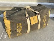 Vintage 1970and039s Johnny Bucyk Hockey Equipment Bag Boston Bruins No. 9 Game Used